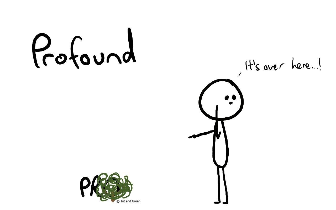 Tut and Groan Profound cartoon