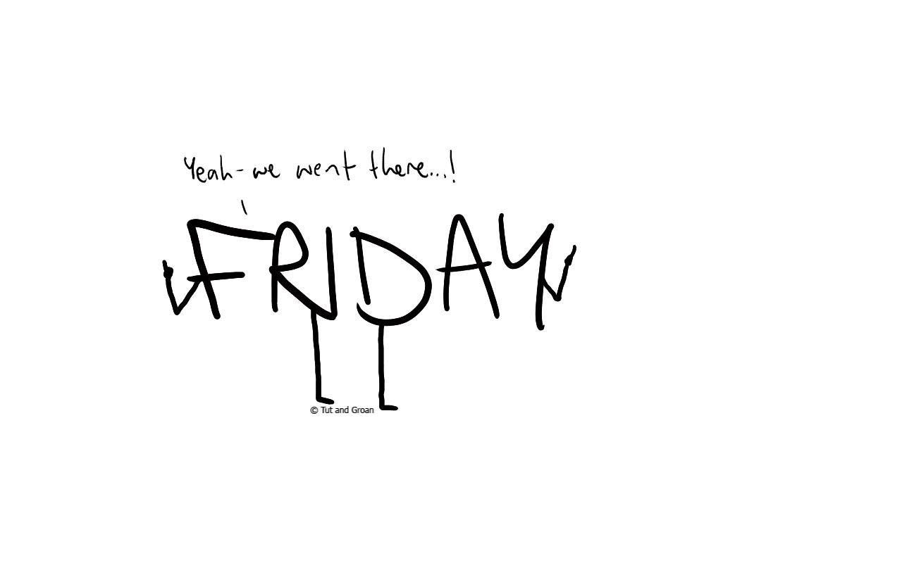 Tut and Groan Black Friday cartoon