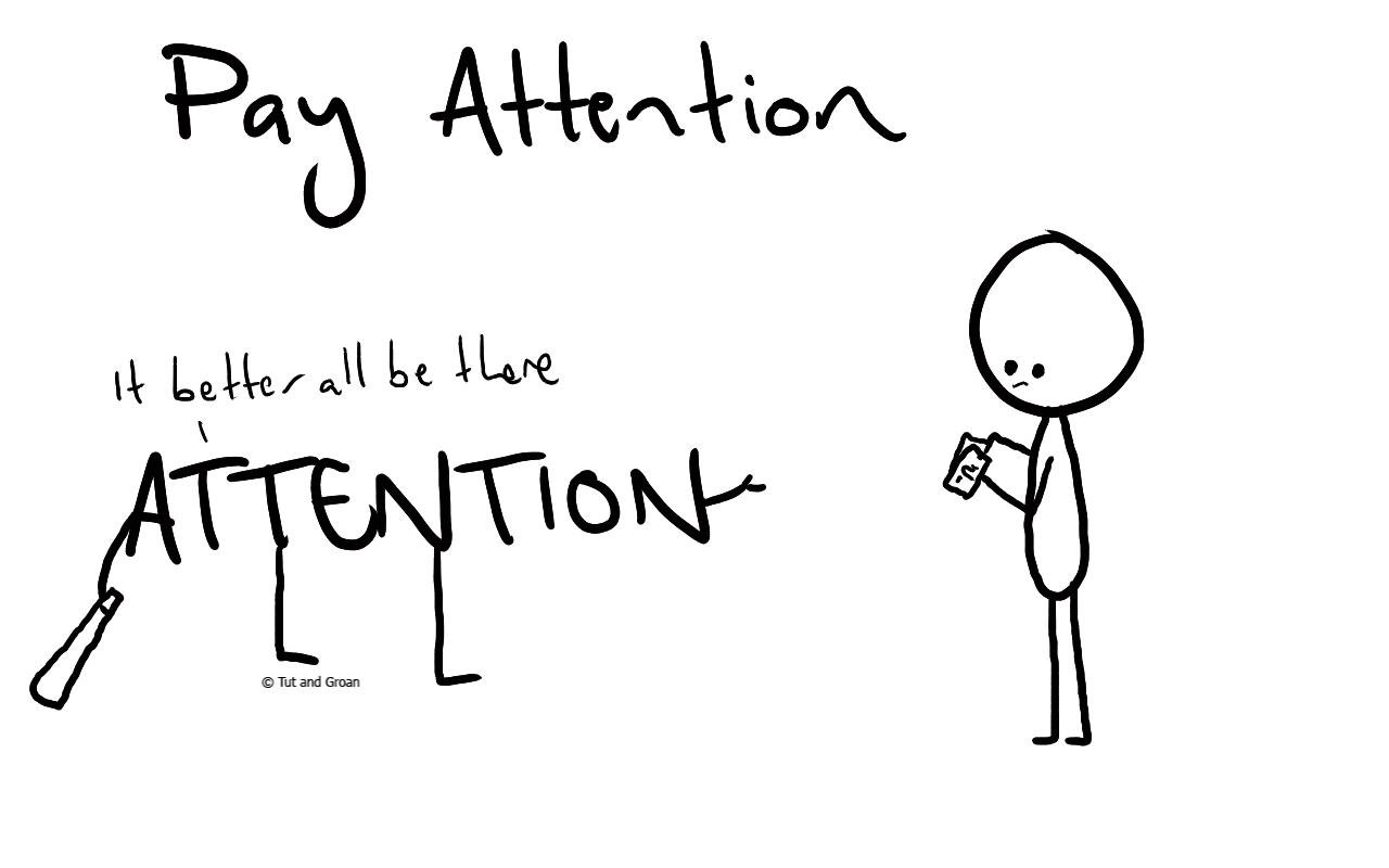 Tut and Groan Pay Attention cartoon