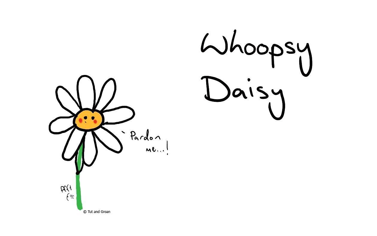 Tut and Groan Whoopsy Daisy cartoon