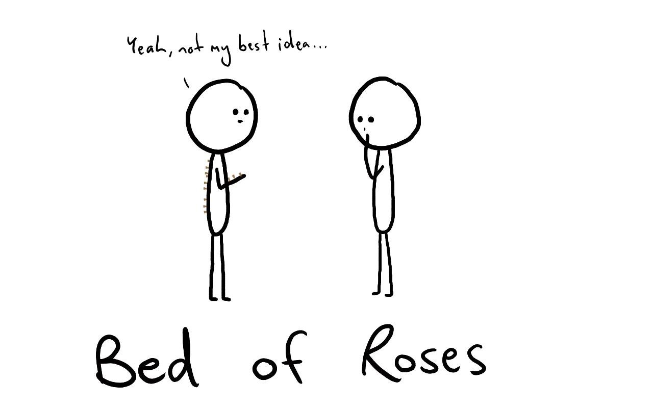 Tut and Groan Bed of Roses cartoon
