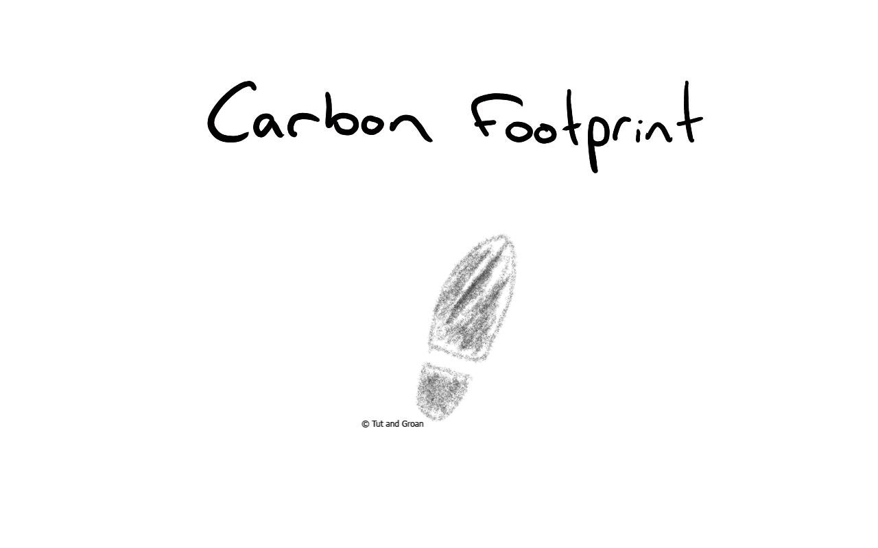 Tut and Groan Carbon Footprint cartoon