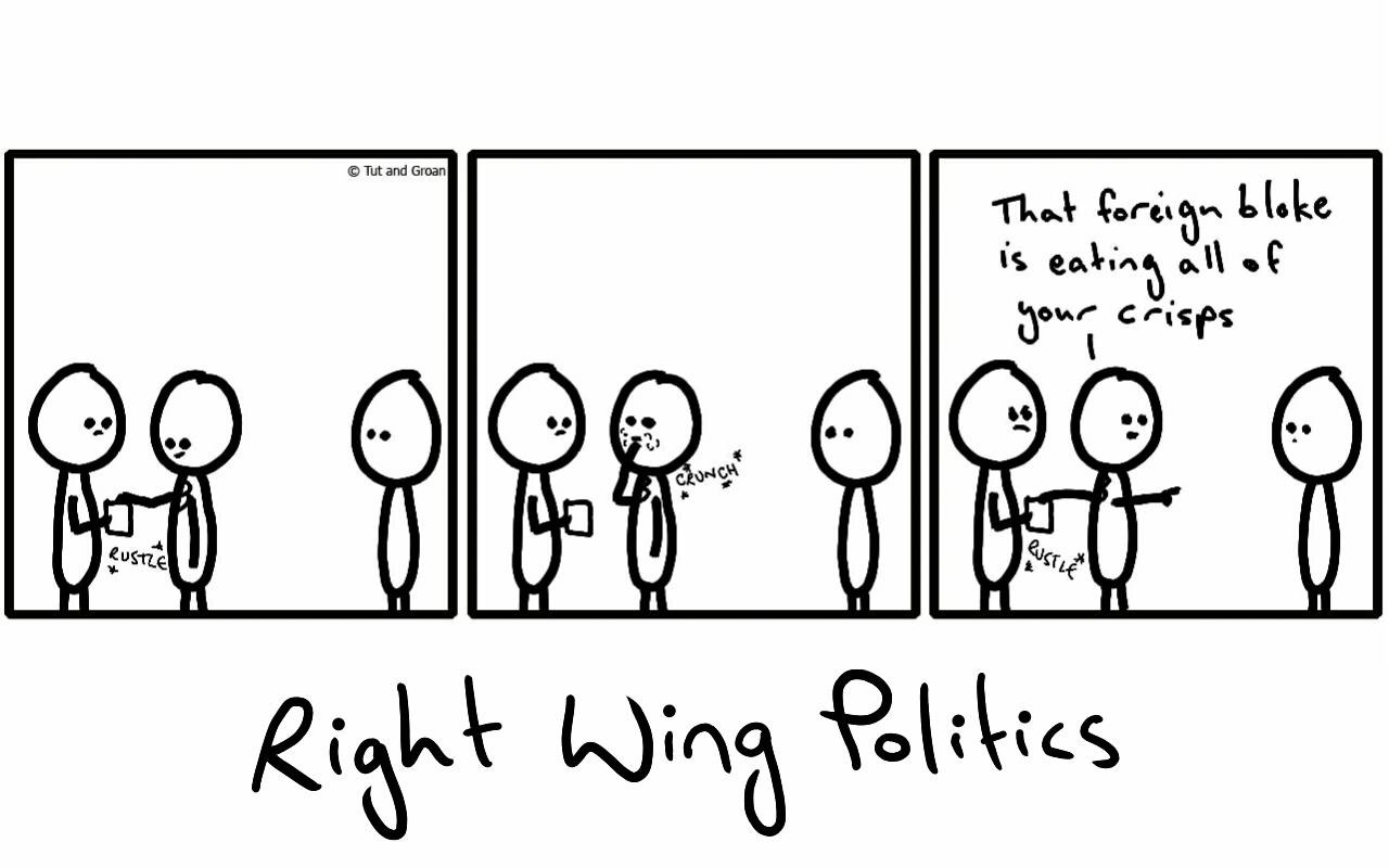 Tut and Groan Right Wing Politics cartoon