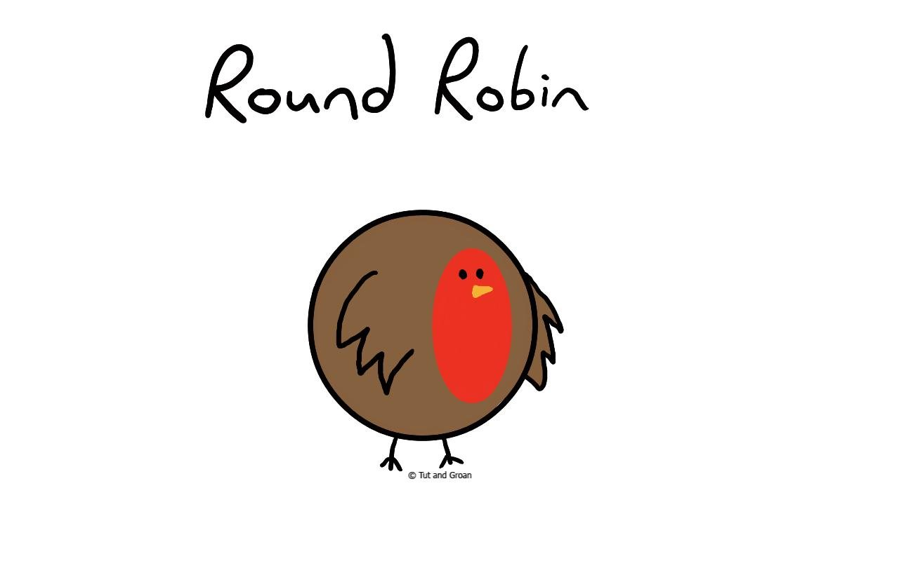 Tut and Groan Round Robin cartoon
