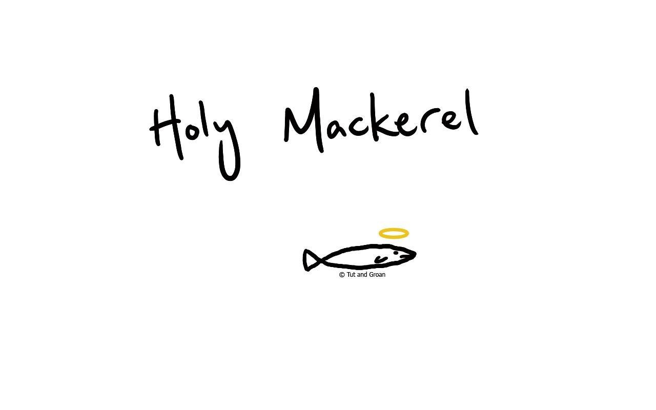 Tut and Groan Holy Mackerel cartoon