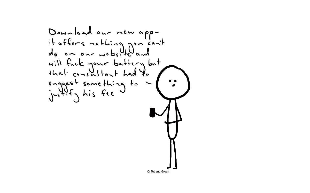 Tut and Groan If Ads Were Honest (Part Three) cartoon