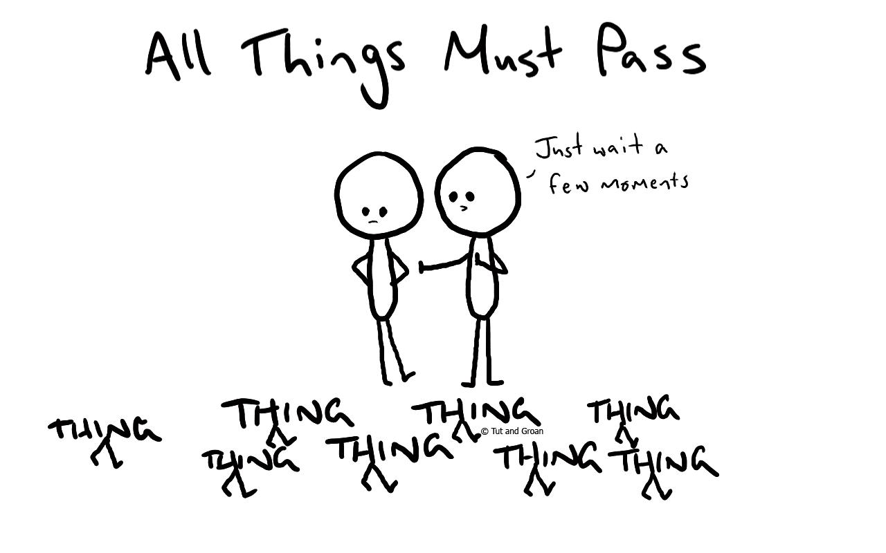 Tut and Groan All Things Must Pass cartoon