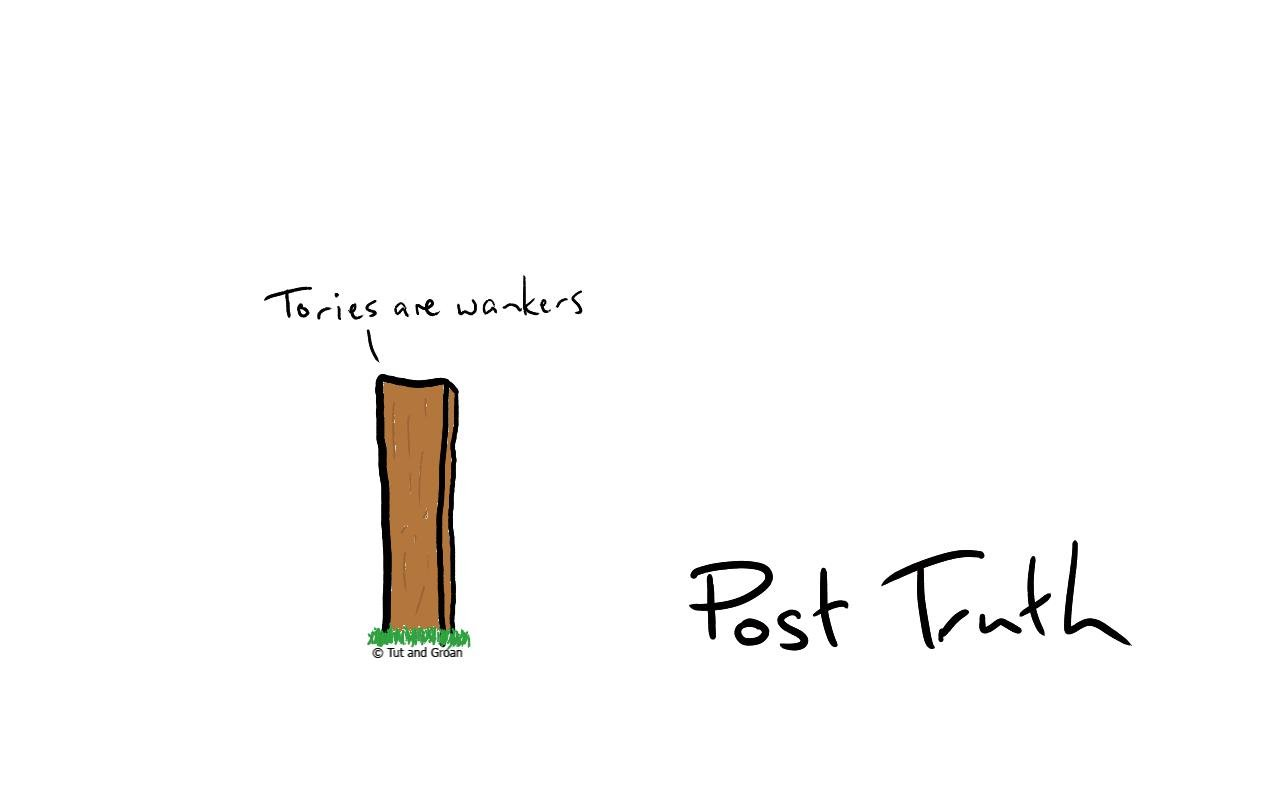 Tut and Groan Post Truth cartoon