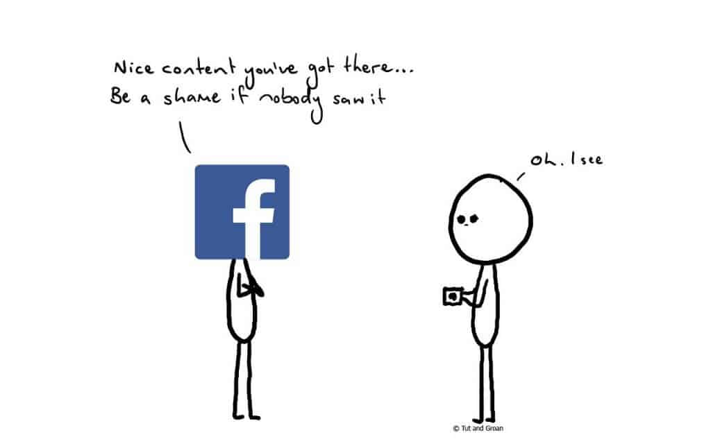 Tut and Groan Being Creative on Facebook cartoon