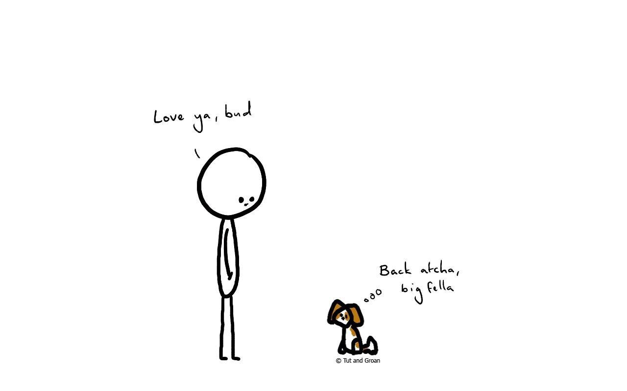 Tut and Groan Man's Best Friend cartoon