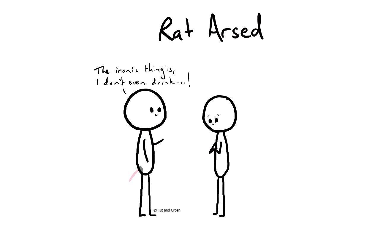 Tut and Groan Rat Arsed cartoon
