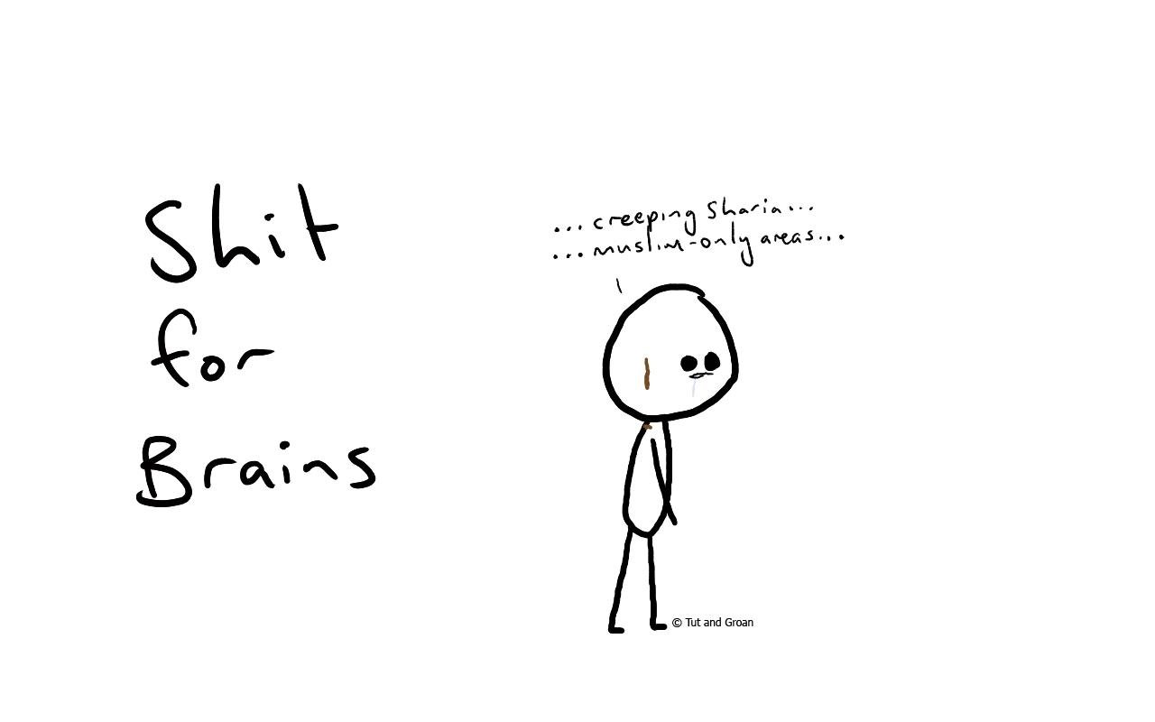 Tut and Groan Shit for Brains cartoon