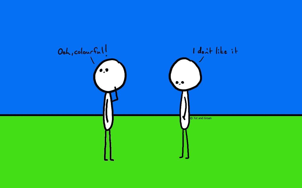 Tut and Groan Colourful cartoon