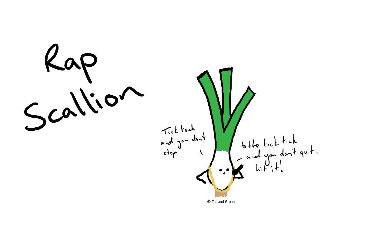 Tut and Groan Rap Scallion cartoon