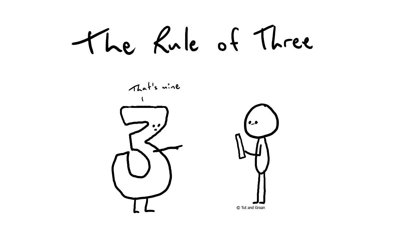 Tut and Groan The Rule of Three cartoon