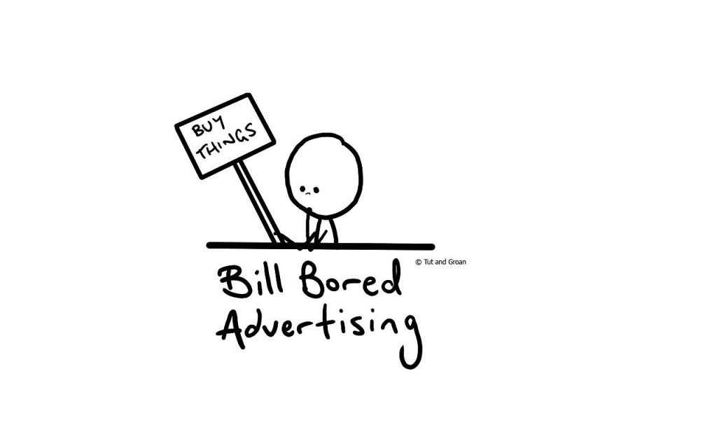 Tut and Groan Bill Bored Advertising cartoon