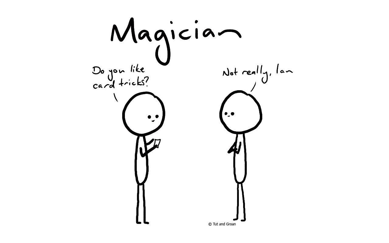 Tut and Groan MagicIan cartoon