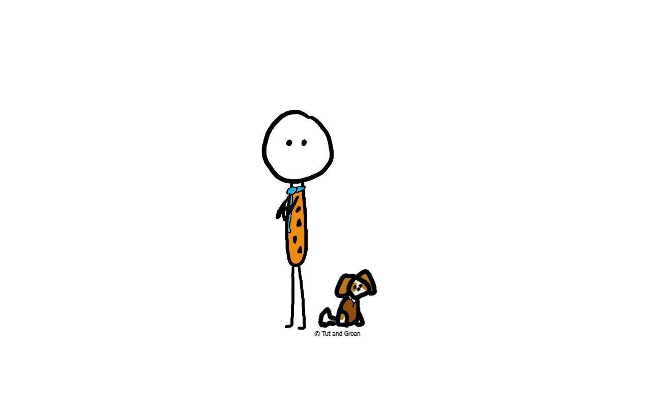Tut and Groan Iconic Duos: Fred Flintstone & Barney Rubble cartoon