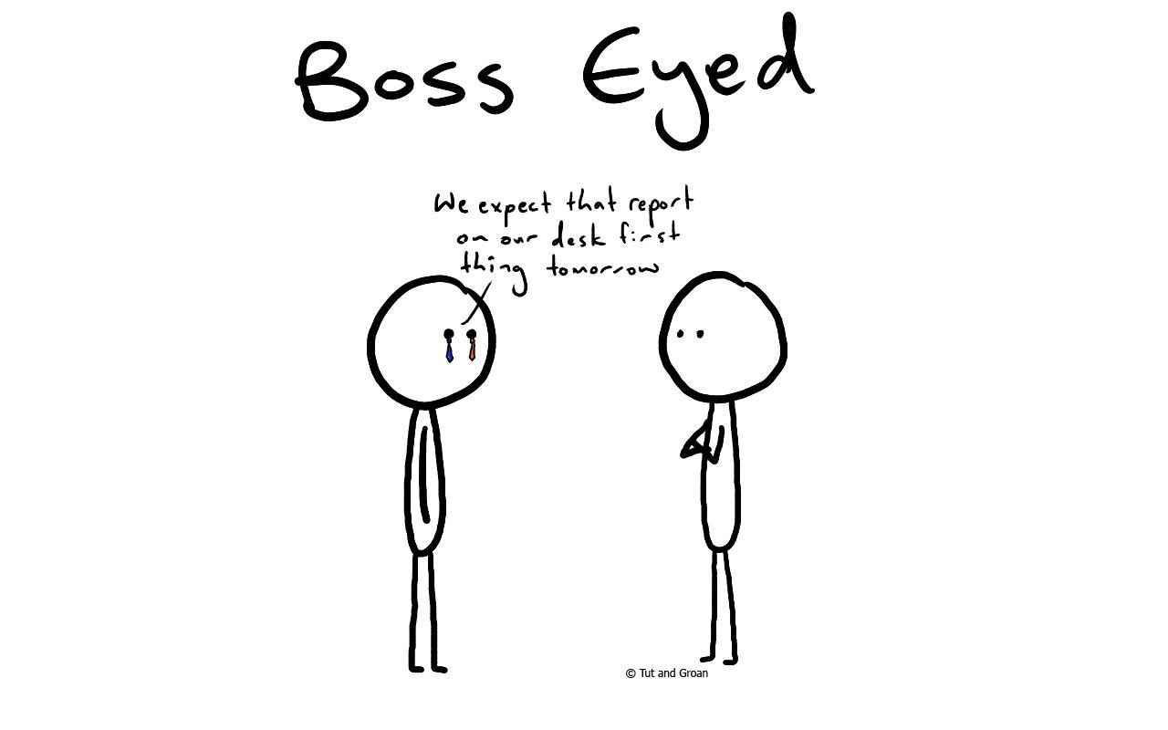 Tut and Groan Boss Eyed cartoon
