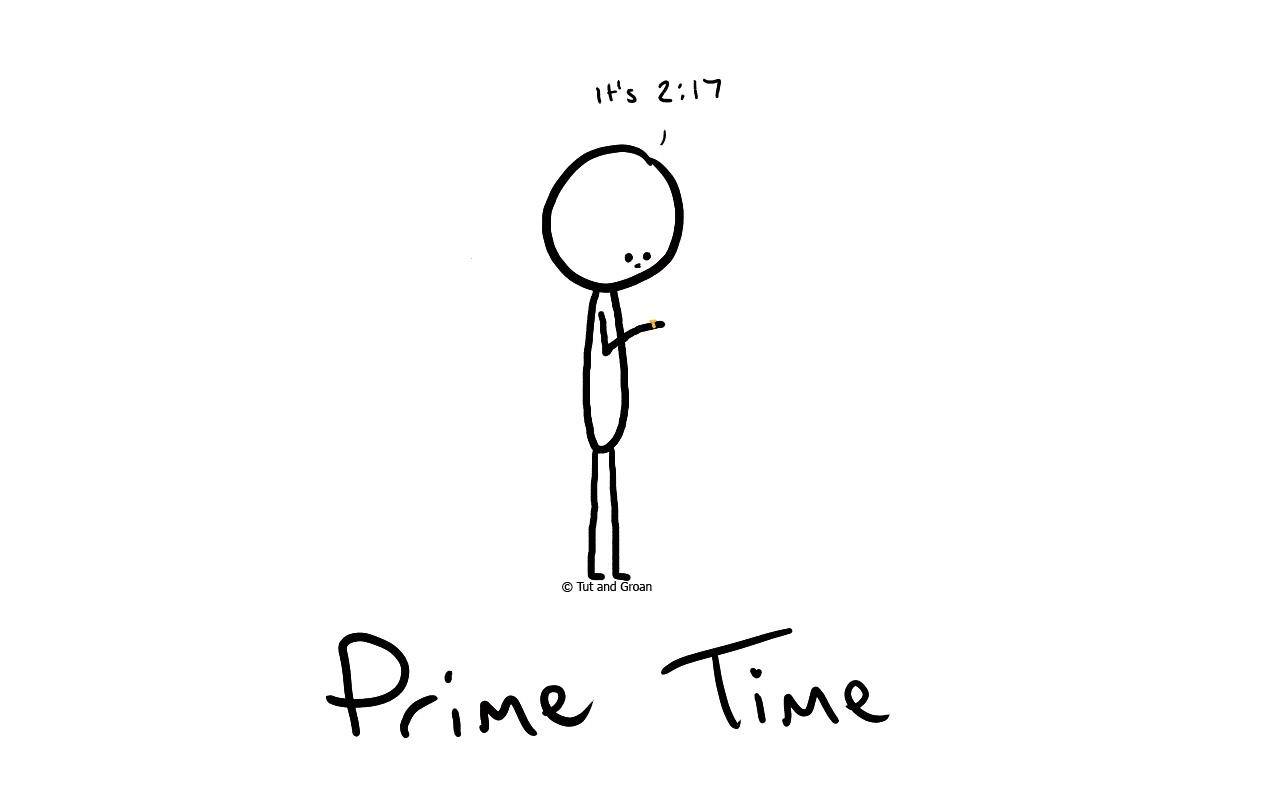 Tut and Groan Prime Time cartoon
