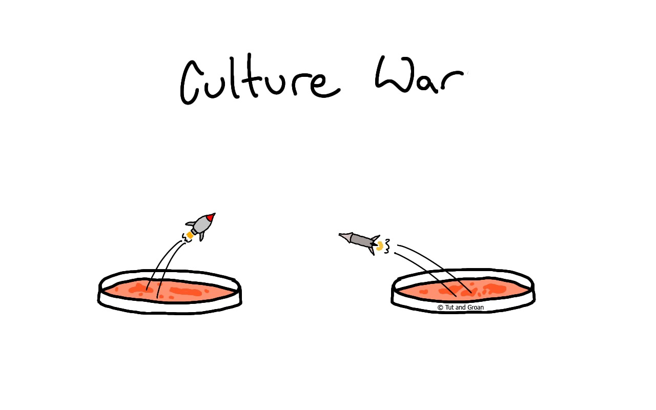 Tut and Groan Culture War cartoon