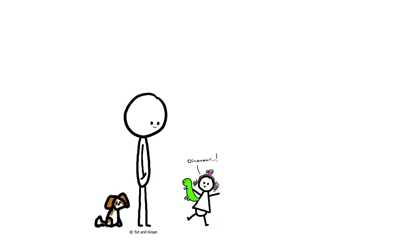 Tut and Groan Baby is Talking cartoon