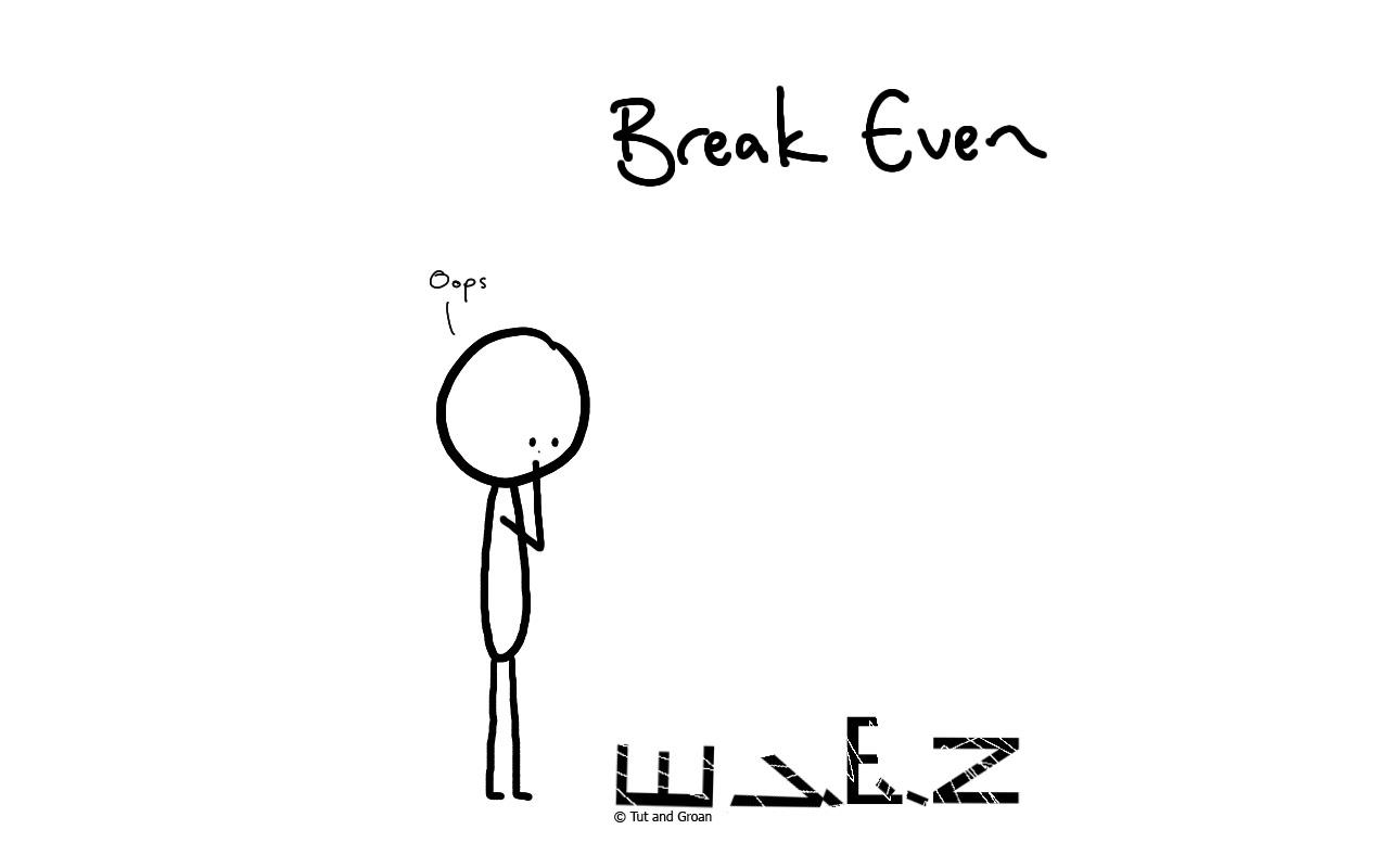 Tut and Groan Break Even cartoon