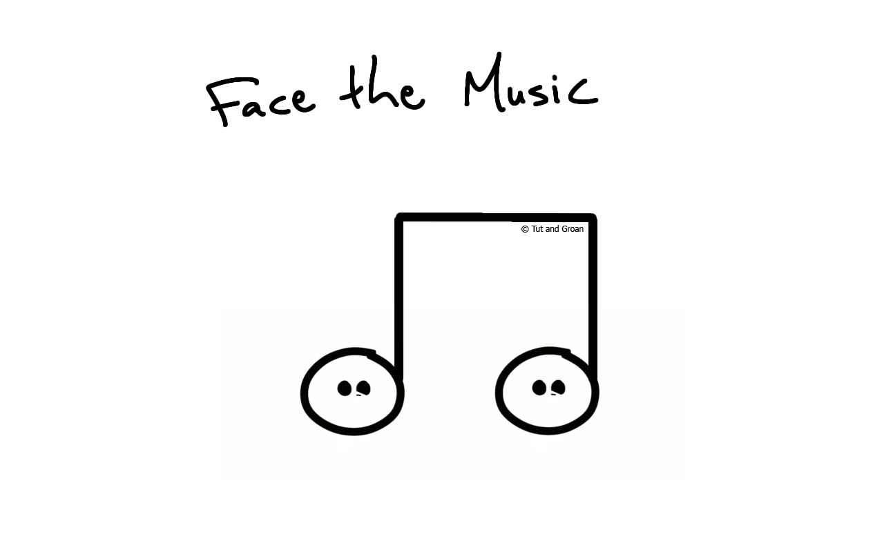 Tut and Groan Face the Music cartoon
